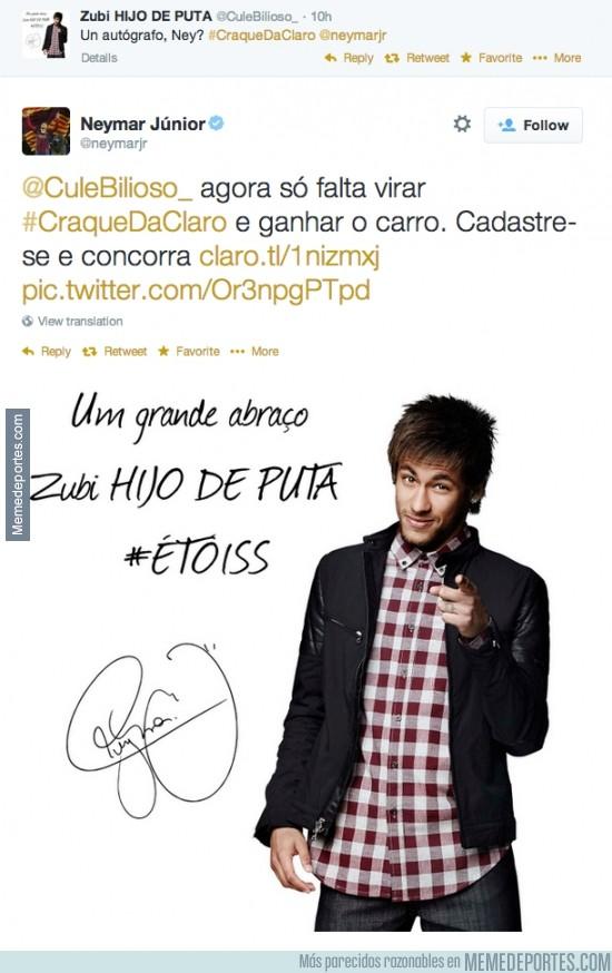 314648 - Neymar la lía con sus foto-autógrafo. Tenemos candidato a Troll del año