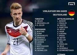 Enlace a Ésta es la preselección de 30 jugadores de Alemania para el mundial de 2014
