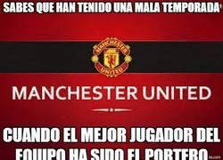 Enlace a De Gea, el mejor jugador del Manchester United 13/14