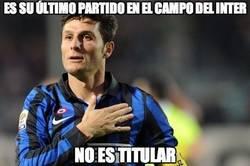 Enlace a Zanetti no es titular en su último partido