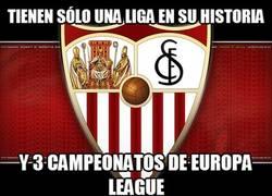 Enlace a Sevilla, con más Europa Leagues que ligas. Increíble