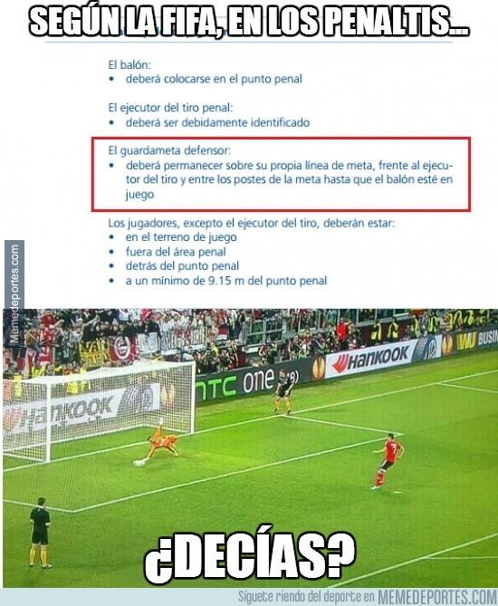 318129 - Según la FIFA, en los penaltis...