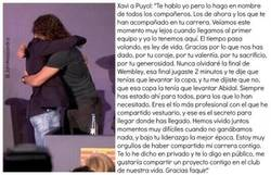 Enlace a Emotivas palabras de Xavi a Puyol