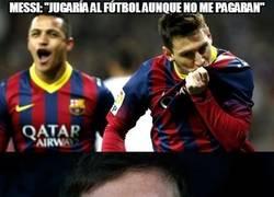 Enlace a Messi, esto no te lo crees ni tú
