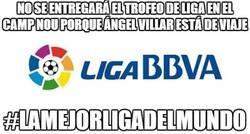Enlace a No se entregará el trofeo de liga en el Camp Nou porque Ángel Villar está de viaje