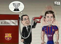 Enlace a Bartomeu Recargando a Messi a base de pasta