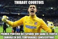 Enlace a Thibaut Courtois, de record