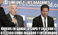 Enlace a Simeone y Luis Aragonés, parecidos muy razonables