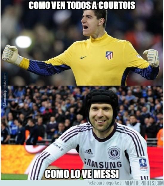319875 - Esta temporada Messi se fue en blanco contra Courtois