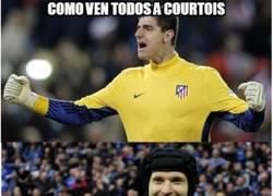 Enlace a Esta temporada Messi se fue en blanco contra Courtois