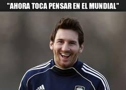 Enlace a Messi, un poco de dignidad