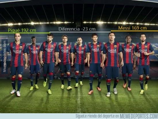 322271 - En mis tiempos, Messi era de los más bajitos del Barça