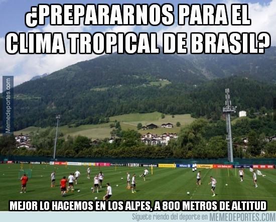 322400 - La preparación de Alemania ¿Prepararnos para el clima tropical de Brasil?