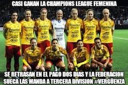 Enlace a Casi ganan la Champions League Femenina