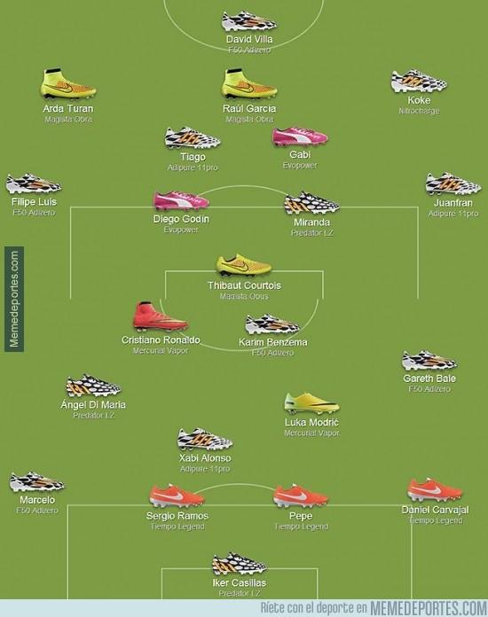 322829 - Las botas con los que cada jugador del Real Madrid y Atlético de Madrid jugarán esta noche