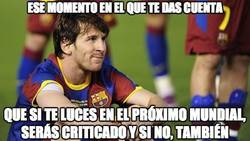 Enlace a ¿En qué estará pensando Messi?