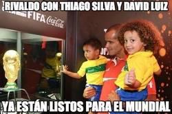 Enlace a Rivaldo con Thiago Silva y David Luiz