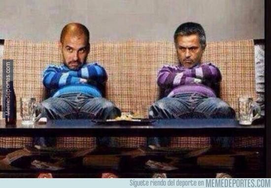 323122 - Pep y Mourinho listos para la final de la Champions