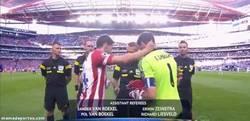 Enlace a GIF: Momento histórico. Dos madrileños en una final de Champions