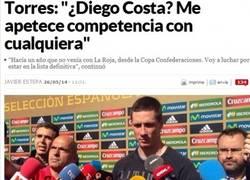 Enlace a Torres se pone gallito con el tema del 9 en la Roja