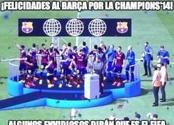 Enlace a ¡Felicidades al Barça por la Champions!