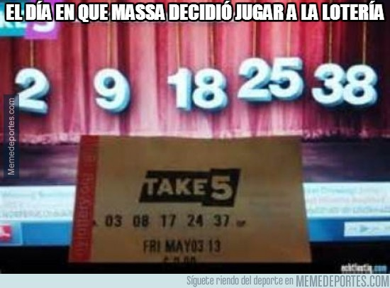 325986 - El día en que Massa decidió jugar a la lotería