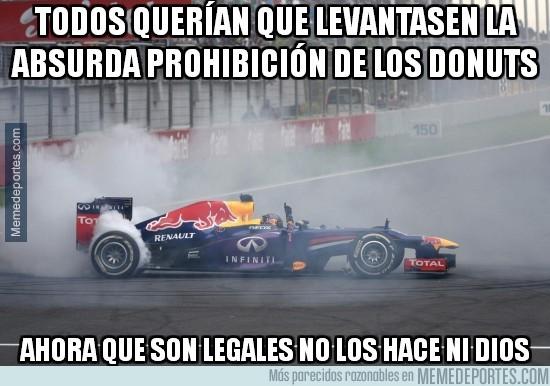 326839 - Vaya, parece que Vettel ya no hace donuts