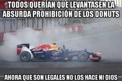 Enlace a Vaya, parece que Vettel ya no hace donuts