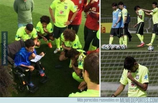 327358 - Neymar se emociona al escuchar a un niño paralítico  #RESPECT