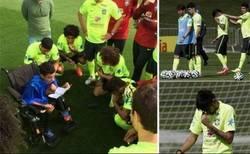 Enlace a Neymar se emociona al escuchar a un niño paralítico  #RESPECT