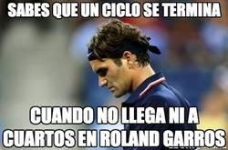 Enlace a Roger Federer. Fin de ciclo