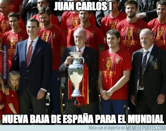 328535 - Juan Carlos I, nueva baja de España para el Mundial
