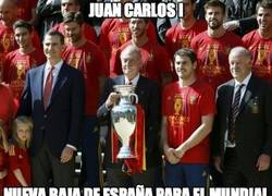 Enlace a Juan Carlos I, nueva baja de España para el Mundial