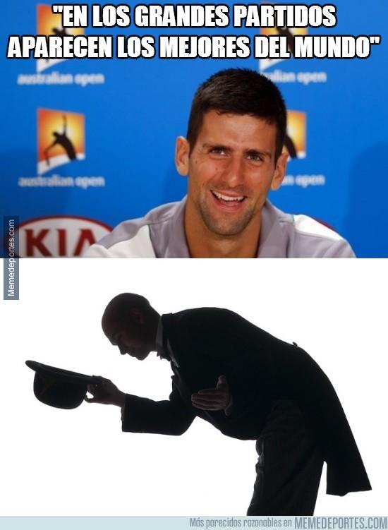 332244 - Djokovic: 'En los grandes partidos, aparecen los mejores del mundo'