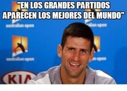 Enlace a Djokovic: 'En los grandes partidos, aparecen los mejores del mundo'