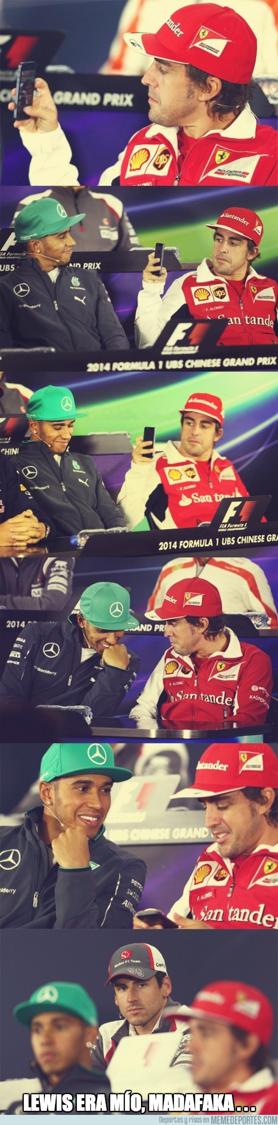332573 - Alonso le quita Hamilton a Adrian Sutil