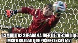 Enlace a Casillas a tiro del récord de imbatibilidad