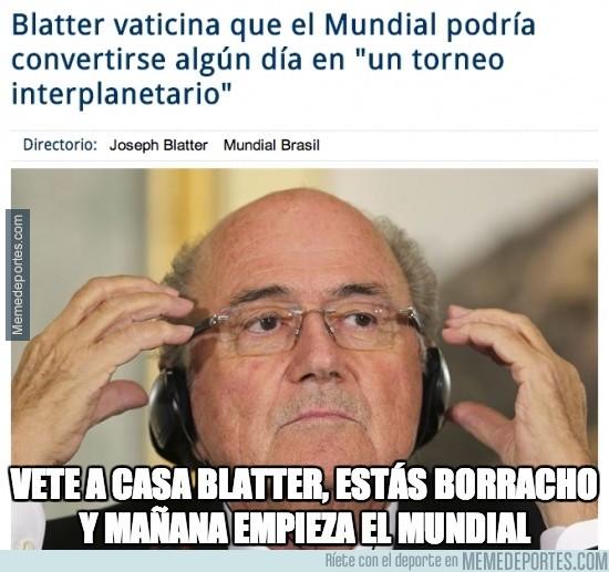 333133 - Blatter vaticina que el Mundial podría convertirse algún día en 'un torneo interplanetario'