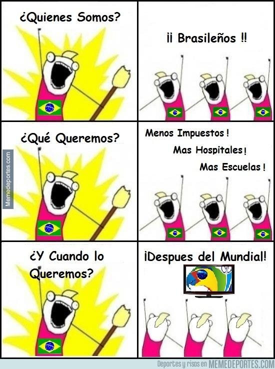 333703 - Brasil durante el Mundial, protestas OFF