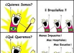 Enlace a Brasil durante el Mundial, protestas OFF