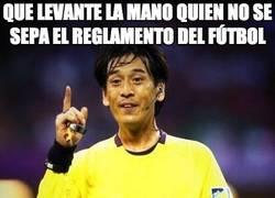 Enlace a Que levante la mano quien no se sepa el reglamento del fútbol