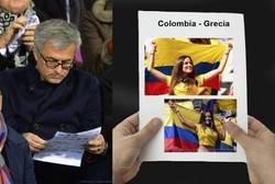 Enlace a Mourinho pendiente del Colombia-Grecia