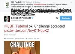 Enlace a Guerra en Twitter. Brasil vs México. ¿Quién ganará?