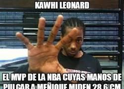 Enlace a Kawhi Leonard, va sin manos
