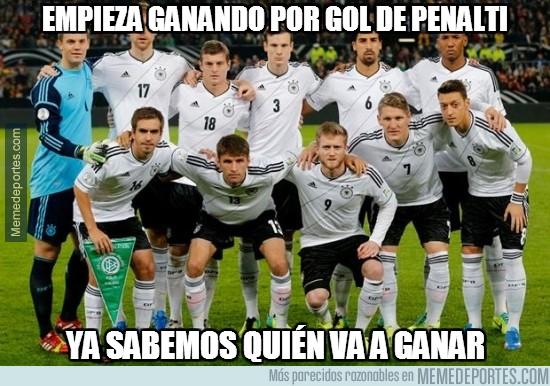 338668 - Alemania empieza ganando con gol de penalti y ya sabemos quién ganará