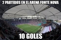 Enlace a Cuidado si juegas en este estadio. Puedes golear o salir goleado