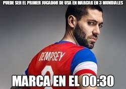Enlace a Dempsey tenía prisa en hacerse con el record