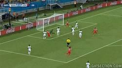 Enlace a GIF: Y con este gol, Clint Dempsey hace el gol más rápido de este Mundial