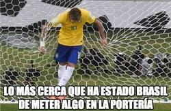 Enlace a Lo más cerca que ha estado Brasil de meter algo en la portería