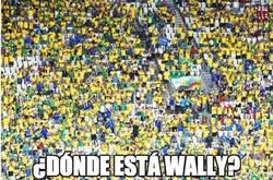 Enlace a ¿Dónde está Wally? Impresionante la afición en Brasil